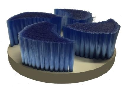 TIB Tellerbürste für die maschinelle Käsepflege Käse Schmierbürste
